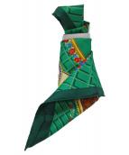 HERMES(エルメス)の古着「シルクスカーフ」|グリーン