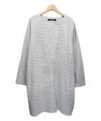 YACCO MARICARD(ヤッコマリカルド)の古着「ブラウスワンピース」|ホワイト×グレー