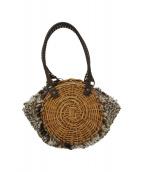 ebagos(エバゴス)の古着「リネンかぶせ布カゴバッグ」|ベージュ