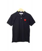 ()の古着「ハートロゴポロシャツ」|ブラック