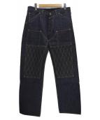 TROPHY CLOTHING(トロフィークロージング)の古着「W KNEE STANDARD DIRT DENIM」|インディゴ