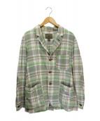 ()の古着「チェックテーラードジャケット」|グリーン