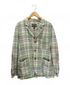 NIGEL CABOURN(ナイジェルケーボン)の古着「チェックテーラードジャケット」 グリーン