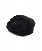GUCCI(グッチ)の古着「ファーフライトキャップ」|ブラック