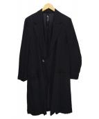 GROUND Y(グラウンドワイ)の古着「ロングテンセルテーラードコート」|ブラック