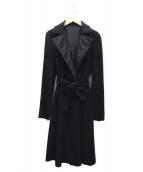 S Max Mara(エスマックスマーラ)の古着「リバーシブルコート」|ブラック