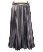 allureville(アルアバイル)の古着「ニッケルサテンアコーディオンプリーツスカート」|グレー