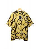 ()の古着「TRIBAL PATTERN SHIRT/アロハシャツ」|マスタード