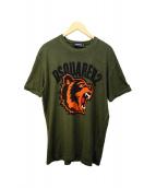 ()の古着「タイガープリントTシャツ」|オリーブ