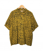 STYLE EYES(スタイルアイズ)の古着「Leopard Open SHIRT/オープンカラーシャツ」|イエロー×ブラック