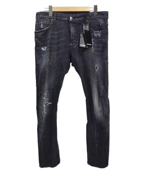 DSQUARED2(ディースクエアード)DSQUARED2 (ディースクエアード) デニムパンツ ブラック サイズ:50 未使用品 TIDY BIKER JEAN 19SS S74LB0491の古着・服飾アイテム