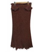 JUNYA WATANABE CDG(ジュンヤワタナベコムデギャルソン)の古着「ウールスカート」|ボルドー