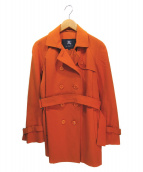 BURBERRY LONDON(バーバリーロンドン)の古着「カラートレンチコート」|オレンジ