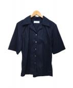 ()の古着「オープンカラーシャツ」 ネイビー