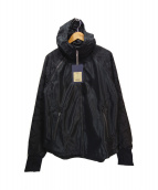 narifuri(ナリフリ)の古着「メッシュフードジャケット」|ブラック