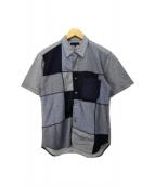 ()の古着「切替半袖シャツ」|グレー