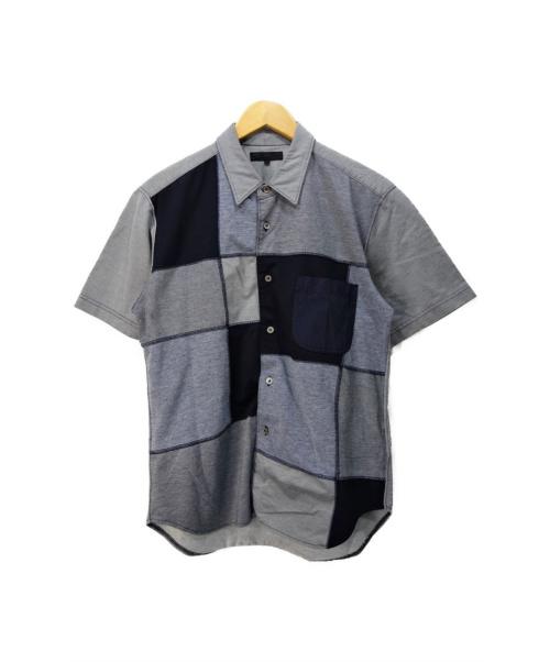 COMME des GARCONS HOMME(コムデギャルソンオム)COMME des GARCONS HOMME (コムデギャルソン オム) 切替半袖シャツ グレー サイズ:S HS-B001の古着・服飾アイテム