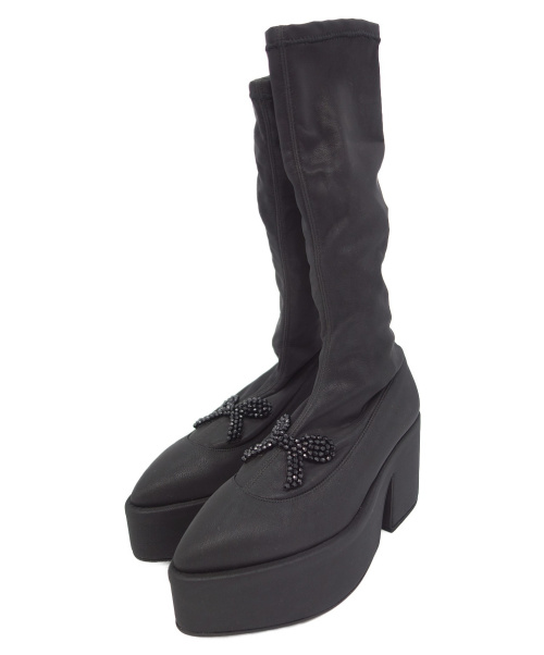 Simone Rocha(シモーネ・ロシャ)Simone Rocha (シモーネ・ロシャ) ロングブーツ ブラック サイズ:37の古着・服飾アイテム