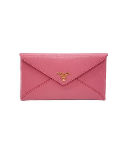 PRADA(プラダ)PRADA (プラダ) ドキュメントケース/財布 ピンク ヴィッテロムーブ 1MF175の古着・服飾アイテム