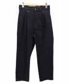 SOPHNET.(ソフネット)の古着「2TUCK WIDE TAPERED PANTS」|ブラック