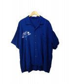 Porter Classic(ポータークラシック)の古着「Sensu Aloha Shirt/アロハシャツ」|インディゴ