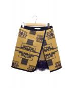 sacai luck(サカイラック)の古着「ブランケットウールスカート」 ベージュ