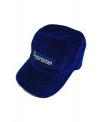 Supreme(シュプリーム)の古着「velvet taped camp CAP」|ブルー