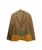 FRAPBOIS(フラボア)の古着「リネン混ジャケット」 ブラウン