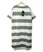 Traditional Weatherwear(トラディショナルウェザーウェア)の古着「カットソーワンピース」|グリーン