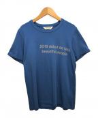 beautiful people()の古着「プリントTシャツ」|ブルー