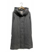自由区(ジユウク)の古着「ショールカラーダウンコート」|グレー