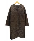 mizuiro-ind(ミズイロインド)の古着「キルティングコート」|チャコールグレー
