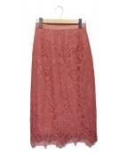 Diagram GRACE CONTINENTAL(ダイアグラムグレースコンチネンタル)の古着「ジオメコードスカート」|ピンク