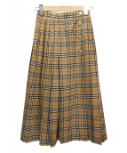 Burberrys(バーバリーズ)の古着「ノヴァチェックプリーツスカート」|ベージュ