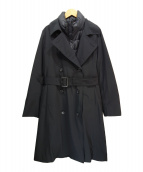 AMACA(アマカ)の古着「グリーンダウントレンチコート」 ブラック