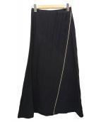 COMME des GARCONS(コムデギャルソン)の古着「サイドジッププリーツスカート」 ブラック