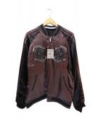 Junky's Paradise(ジャンキーパラダイアス)の古着「リバーシブルスカジャン」|ブラック