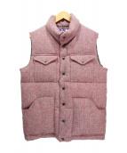 THE NORTHFACE PURPLELABEL × Harris Tweed(ザノースフェイス パープルレーベル × ハリスツイード)の古着「ツイードダウンベスト」 ピンク