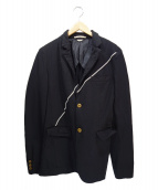 COMME des GARCONS HommePlus(コムデギャルソンオムプリュス)の古着「テーラードジャケット」 ブラック