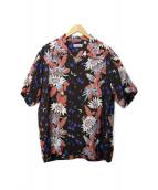 ()の古着「開襟シャツ」|ブラック