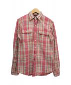 ()の古着「チェックシャツ」|ピンク