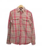 RRL()の古着「チェックシャツ」 ピンク