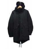 ()の古着「裏ボアフーデッドコート」|ブラック