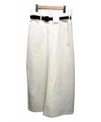 ()の古着「フロントスリットスカート」 ホワイト