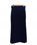 BURBERRY PRORSUM(バーバリープローサム)の古着「ウールラップスカート」|ネイビー