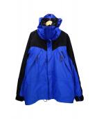 Marmot(マーモット)の古着「ゴアテックスナイロンジャケット」 ブルー ブラック