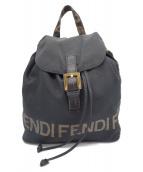 FENDI(フェンディ)の古着「ロゴナイロンリュック」|ブラック