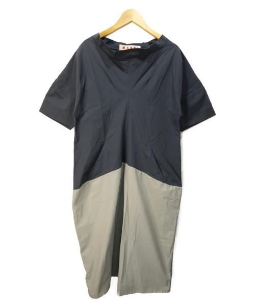 MARNI(マルニ)MARNI (マルニ) バイカラーワンピース グレー サイズ:40 並行輸入品の古着・服飾アイテム