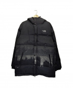 APPLEBUM(アップルバム)の古着「中綿フーデッドコート」|ブラック