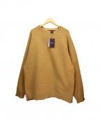 APPLEBUM(アップルバム)の古着「Slit Wide Sweater」|ベージュ